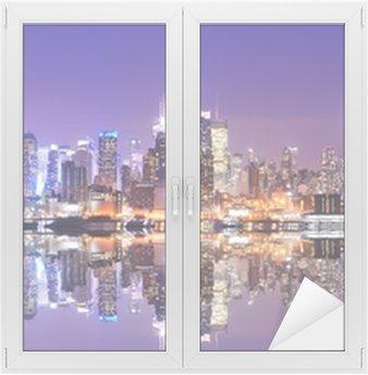 Cam ve Pencere Çıkartması Reflections Manhattan Skyline