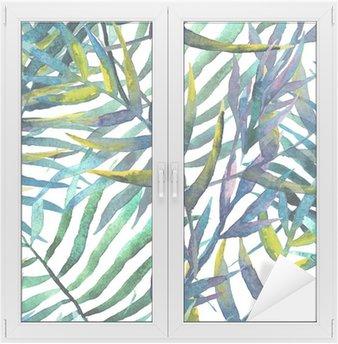 Cam ve Pencere Çıkartması Soyut model arka plan duvar kağıdı suluboya yaprak