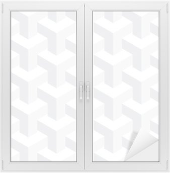 Cam ve Pencere Çıkartması Vektör gerçekdışı doku, soyut tasarım, illüzyon inşaat, beyaz arka