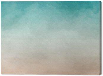 Canvas Abstract aquarel textuur