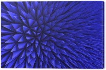 Canvas Abstract Poligon Chaotische Blauwe Achtergrond