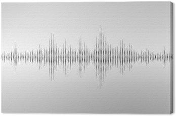 Canvas Abstracte geluidsgolven