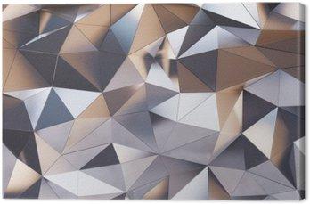 Canvas Abstracte metalen wand