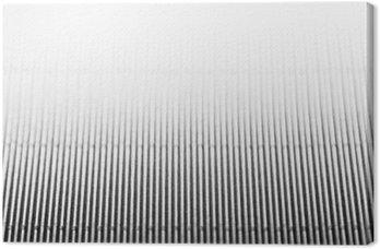 Canvas Abstracte minimalistische wit gestreepte achtergrond met verticale lijnen en kopt de bal. Kopieer ruimte. De textuur.