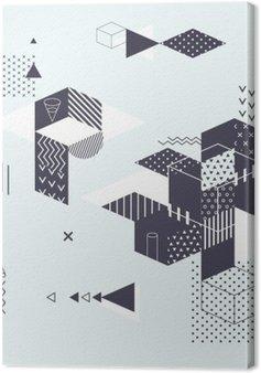 Canvas Abstracte moderne geometrische achtergrond