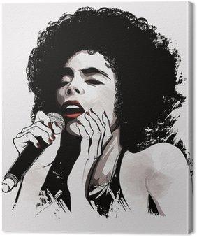 Canvas Afro-Amerikaanse jazz-zangeres