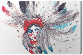 Canvas Amerikaanse Indiaan