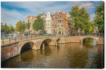 Canvas Amsterdam stadsgezicht