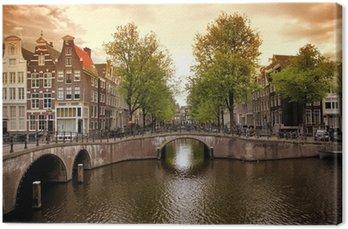 Canvas Amsterdamse grachten