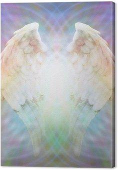 Canvas Angel Wings op veelkleurige matrix web