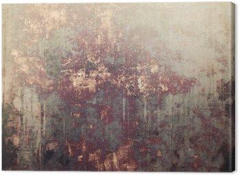 Canvas Antieke vintage gestructureerde achtergrond. Met verschillende kleurpatronen: geel (beige); bruin; grijs; zwart