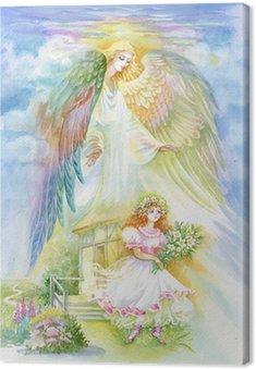 """Canvas Aquarel """"Angel"""""""