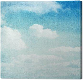 Canvas Aquarel wolken en hemel achtergrond