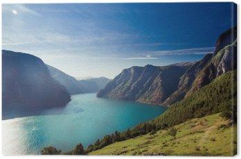 Canvas Aurlandsfjord in Noorwegen