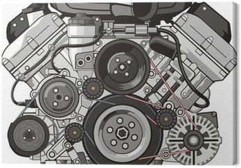 Canvas Automotor voorzijde