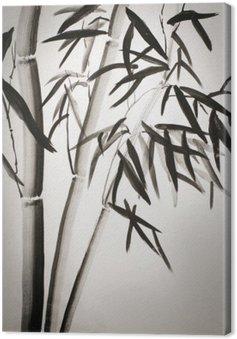 Canvas Bamboe bladeren