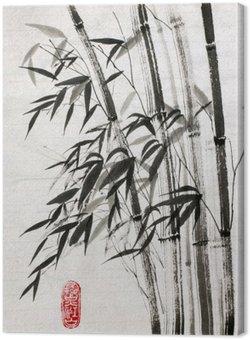 Canvas Bamboe is een symbool van een lang leven en welvaart