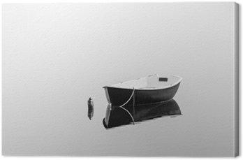 Canvas Black roeiboot