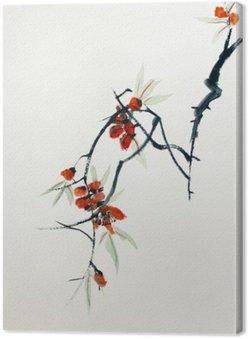 Canvas Bloeiende sakura