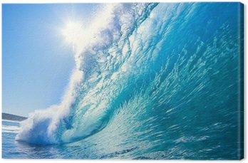 Canvas Blue Ocean Wave
