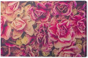 Canvas Boeket rozen achtergrond. retro filter