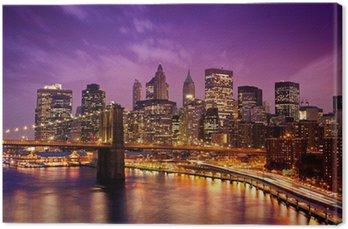 Canvas Brooklyn Bridge met uitzicht op Manhattan