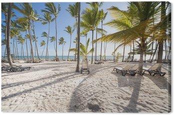 Canvas Caribische strand
