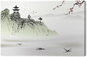 Canvas Chinese landschapsschilderkunst