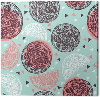 Canvas Citrus patroon graphics
