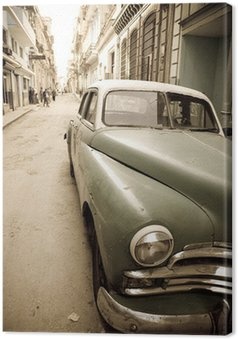 Canvas Cubaanse oldtimer