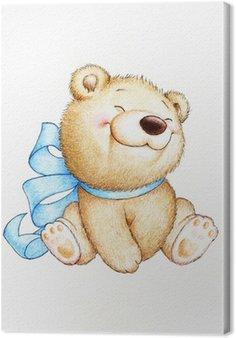 Canvas Cute Teddy Bear