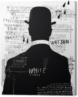 Canvas De man met de hoed
