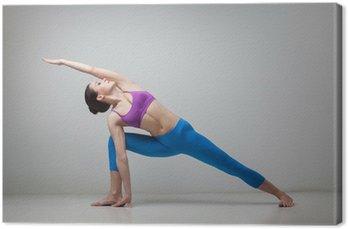 Canvas De yoga vrouw
