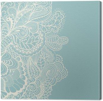 Canvas Decoratief element grens. Abstracte uitnodigingskaart. Sjabloon wa
