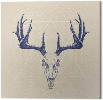 Canvas deer skull