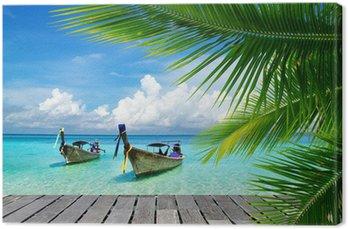 Canvas Dek met uitzicht op een tropische zee