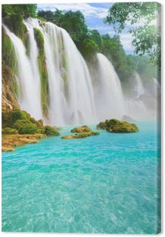 Canvas Detian waterval