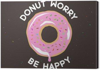 Canvas Donut maken graag vintage poster. Vector illustratie.