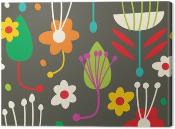 Canvas Doodle naadloze bloemmotief