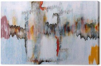 Canvas Een abstract schilderij