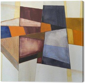 Canvas Een modernist abstract aquarel
