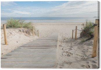 Canvas Een paadje naar het strand