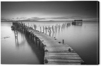 Canvas Een rustige oude pier