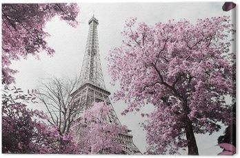 Canvas Eiffel tower