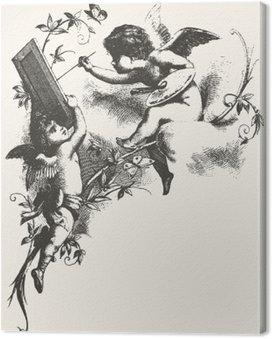 Canvas Engelen - grijstinten