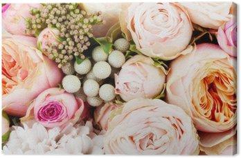 Canvas Fraai boeket bloemen