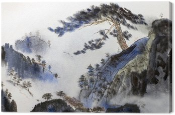 Canvas Gebergte