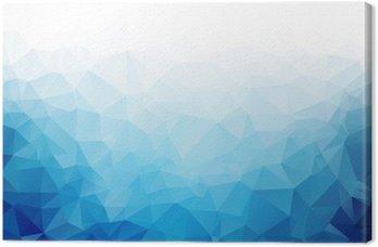 Canvas Geometrische blauwe ijs textuur achtergrond