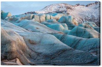 Canvas Gletsjer Vatnajokull, IJsland, een deel van de Vatnajokull National Park. Panorama