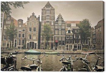 Canvas Grijze dag in amsterdam